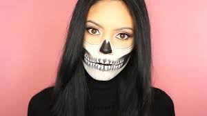 half halloween makeup halloween skull makeup half skull inspired by chrisspy