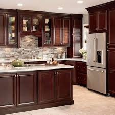 lowes kitchen design ideas shop shenandoah bluemont 13 in x 14 5 in bordeaux cherry square