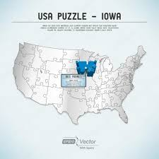 United States Map Puzzle by Iowa State Usa Vector Map Isolated Stock Vector 309561854 Free
