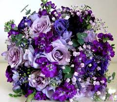 purple bouquets bridal bouquet the combo of baby s breath and lighter