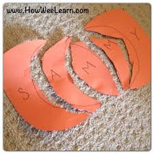 Halloween Children Crafts by Halloween Preschool Crafts Pumpkin Name Puzzles How Wee Learn