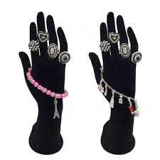 bracelet hand display images 26cm tall black velvet elegant hand up mannequin model display jpg