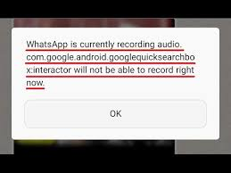 record audio android fixed whatsapp is currently recording audio android