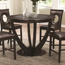 cappuccino dining room furniture collection coaster 106748 round cappuccino counter height table with glass top