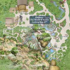 Disney World Park Maps by Update Disney Adds U0027pandora The World Of Avatar U0027 To The My