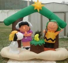 Outdoor Inflatables Peanuts Snoopy Nativity
