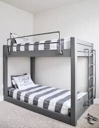 Wooden Loft Bed Diy by Diy Industrial Bunk Bed Free Plans Industrial Bunk Beds Bunk