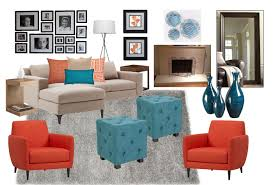 orange and blue combination how a color scheme can change your living room guest post by