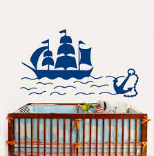 compare prices on vinyl boat decals online shopping buy low price removable kids nursery room wall sticker ship boat anchor sea nautical vinyl decals boys bedroom decor