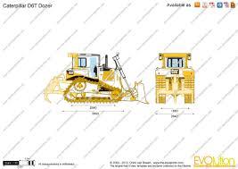 the blueprints com vector drawing caterpillar d6t dozer