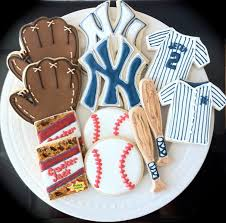 New York Yankees Home Decor New York Yankees Baseball Themed Decorated Cookies Tough Cookie