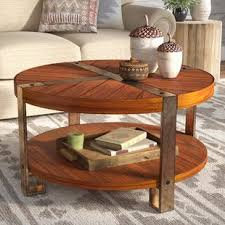 42 inch coffee table 42 inch round coffee table wayfair