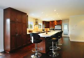 Red Kitchen Countertop - 34 kitchens with dark wood floors pictures