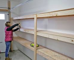 Plans To Build Wood Storage - free plans to build garage shelving using only 2x4s easy and