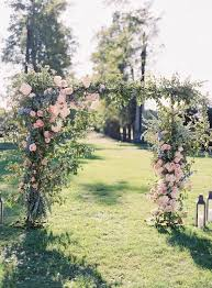 Wedding Arch Greenery Picture Of Gorgeous Wedding Arch With Pink Roses Lilac Flowers