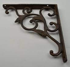 Wooden Shelf Bracket Patterns by Cast Iron Leaf Vine Shelf Bracket Custom Shelves 8 75