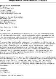 perfect graduate assistantship cover letter examples 40 about