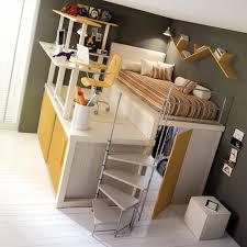 lit surélevé avec bureau lit enfant mezzanine avec bureau