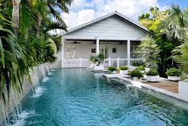 architecture diy backyard waterfall with tropical pool and