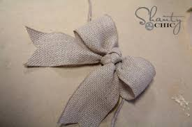 burlap ribbon bow 3 diy bow picture frame burlap bows burlap and craft