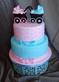 pink u0026 blue baby shower cakecentral com