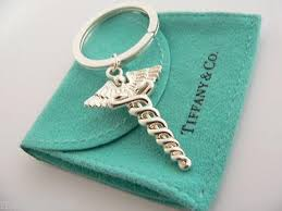 key rings tiffany images Tiffany co silver medical doctor caduceus key ring key chain jpeg