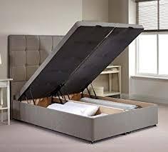 4ft Ottoman Beds Uk Appian Ottoman Divan Bed Frame Silver Chenille Fabric Co