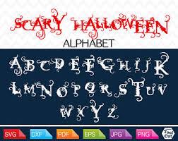 halloween letters etsy