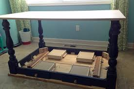 table converts to shelf remodelaholic how to turn a table into a rolling island