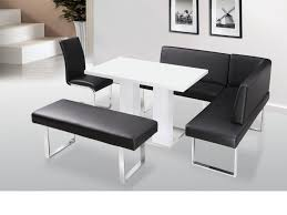 Wood Banquette Seating Dining Room Modern Kitchen Banquette Balck Leather Dining Bench