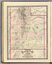 Utah Map With Cities And Towns by Utah David Rumsey Historical Map Collection