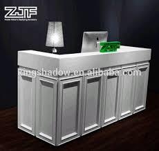 Standing Reception Desk White Reception Desk Free Standing Counter Hotel Reception Counter