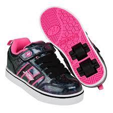 heelys light up shoes heelys x2 bolt plus light up black hologram pink heelys shoes