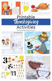 printable thanksgiving activities the homeschool