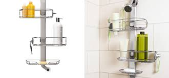 simplehuman shower caddies stainless tension pole caddy