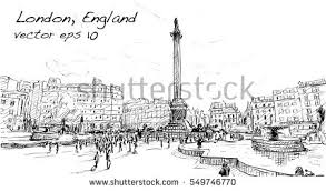 sketch city scape london england shop stock vector 549746770