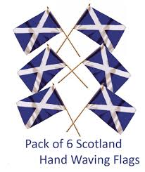 scotland small hand flags six pack of st andrew u0027s cross