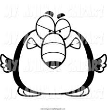 clip art of a black and white mad toucan bird by cory thoman 86911