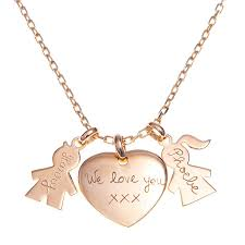 necklaces for mothers s personalised gold or silver unique charm chain necklace