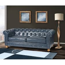 blue chesterfield sofa winston vintage blue chesterfield sofa free shipping today