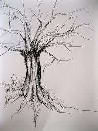 tree pen drawing