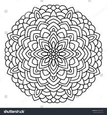symmetrical circular pattern mandala oriental pattern stock