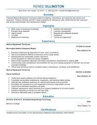 biomedical engineer resume best equipment technician resume exle livecareer