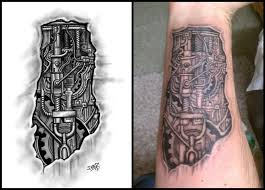 tattoo designs biomechanical forearm tattoo by jared1481