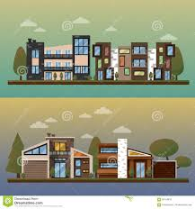Two Family Floor Plans by Vector Flat Illustration Of Two Family House And Sweet Home