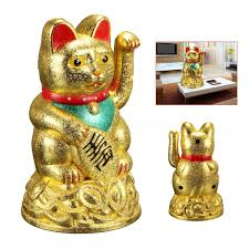 4 5 feng shui fortune gold ingot lucky wealth waving cat