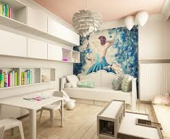 deco fee chambre fille déco murale chambre fille en papier peint mural fée avec robe bleue