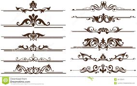 vintage ornaments corners borders design stock vector image