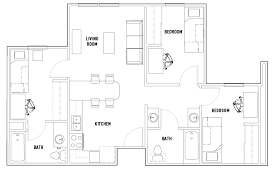 bath floor plans floor plans vista co norte student housing irvine ca
