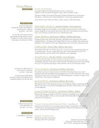 Sample Architect Resume Project Architect Resume Free Resume Templates